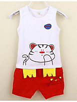 Boys' Casual/Daily Animal Print Sets,Cotton Summer Sleeveless Clothing Set