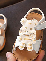 Baby Sandals Spring Fall First Walkers PU Outdoor Casual Flat Heel Magic Tape White Black Pink Walking