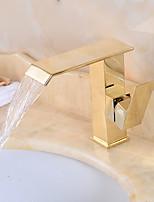 Bathroom Sink Faucet/Ti-PVD BronzeBrass Single Handle Centerset Faucet