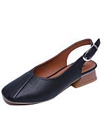 Sandalen-Outddor-PU-Blockabsatz-Komfort-Schwarz Grau