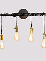 Vintage Industrial Pipe Wall Lights With switch Creative Lights Restaurant Cafe Bar Decoration lighting With 4 Light Painted Finish