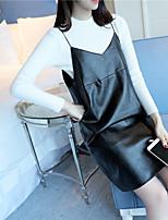 Zeichen # 4457 Frühjahr neue Frauen&# 39; s Pullover neue Frauen&# 39; s zweiteilige Leder Leibchen Spitzen Flut