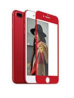 ZxD de porcelana de borde suave de color rojo para el iphone 7 más protector de la pantalla de vidrio templado de la cubierta completa 3d