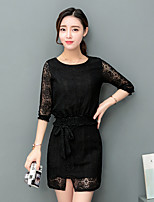 Sign sweet ladies flounced openwork lace skirt fashion Slim thin piece suit female tide