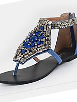 Damen-Sandalen-Outddor Büro Kleid Lässig-PU-Flacher Absatz-Komfort Neuheit Gladiator
