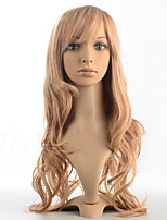 Top Quality Blonde Mix Wig Synthetic Fiber Capless Deep Wavy Heat Resistant Costume Wig