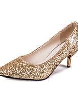 Серебристый ЗолотистыйДля офиса Для праздника Для вечеринки / ужина-Синтетика-На шпильке-клуб Обувь-Обувь на каблуках