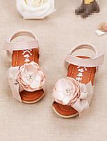 Бежевый Розовый-Дети-Для прогулок Повседневный-Дерматин-На низком каблуке-Обувь для малышей-На плокой подошве