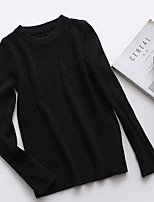 Sign tight round neck sweater bottoming female hedging long-sleeved sweater solid color Slim was thin Korean version of the fall and winter