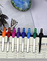 Stylo Stylo Stylos à bille Stylo,Plastique Baril Bleu Couleurs d'encre For Fournitures scolaires Fournitures de bureau Paquet