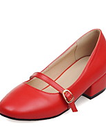Women's Flats Comfort Novelty Spring Summer Leatherette Casual Dress Office & Career Buckle Lace-up Low Heel Gray Ruby Almond 1in-1 3/4in