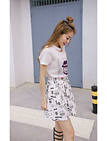 2016 new Korean fashion cotton T-shirt skirt suit two-piece three-dimensional printing was thin female loose