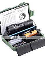 Ultrafire ZQ-X1076PU#1-EU G7000 5Modes Zoomable Multifunction Flashlight Torch Kit with Battery and Charger