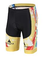 Bermudas Acolchoadas Para Ciclismo Unissexo Reduz a Irritação Compressão Tapete 3D Moto Shorts Acolchoados Elastano LYCRA® Ciclismo/Moto