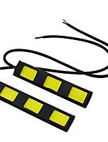 1 пара автомобиль стиль водонепроницаемый початка чип водить DRL дневные ходовые огни белого DC12V тумана вождения головную лампу