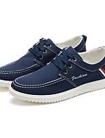 Для мужчин Кеды Удобная обувь Светодиодные подошвы Полотно Весна Лето Осень Зима Для прогулок Для офиса Повседневный Для прогулок