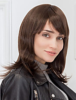 Pretty Brown Haircolor Natural Straight Capless Human Hair Wig Bob Hairstyle For Girls And Women 2017