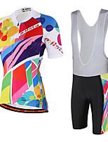 Miloto Cyklodres a kraťasy se šlemi Unisex Krátké rukávy Jezdit na kole Cyklistické šortky Náprsníkové punčocháče DresProdyšné Reflexní