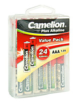 Camelion LR03-PBH24 AAA Alkaline Battery 1.5V 24 Pack
