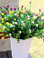 1 Ramo Plástico Rosas Flor de Mesa Flores artificiais 30*30*34