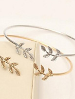 Bracelet Chain Bracelet Stainless Steel Leaf Fashion Wedding Party Jewelry Gift Gold Silver,1pc