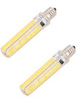 BRELONG Dimmable 5W E14/E17/E11/E12 LED Corn Lights 136 SMD 5730 400 lm Warm White Cool White  Decorative AC 220-240 AC 110-130 V 2 pcs