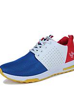 Herren-Sneaker-Outddor Lässig Sportlich-Tüll-Flacher Absatz-Komfort Leuchtende Sohlen
