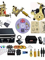 Complete Tattoo Kit 3  G3Z12Z0Z14 Machines Liner & Shader Dual LED Power Supply