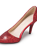 Sandals Spring Summer Fall Club Shoes Synthetic Office & Career Party & Evening Dress Stiletto Heel Sequin Red Silver Gold