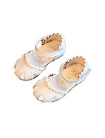 Baby Flats Summer Comfort Cowhide Outdoor Casual Flat Heel Magic Tape White Red Pink Walking