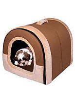 Cat Dog Bed Pet Mats & Pads Soft Blue Pink Orange Nylon Cotton