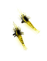 2 pcs Soft Bait Yellow 6 g Ounce mm inch,Plastic General Fishing