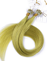 10A Best Quality Hair Micro Loop Ring Hair Extensions Virgin Hair Kinky Straight 100g Virgin Brazilian Hair Human Hair Extension tangle free