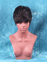 flauschigen kurze Haare heiß hochwertige Echthaar Perücke