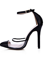 Sandals Summer Club Shoes PU Wedding Party & Evening Dress Black