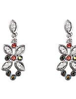 Boucles d'oreille goutte Cristal Cristal Mode Simple Style Argent Bijoux Quotidien Décontracté 1 paire