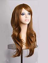 mode sombres longues filles bruns bouclés perruque femmes synthétiques lolita cosplay perruque 4 couleurs