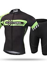 XINTOWN Велокофты и велошорты Муж. Короткие рукава ВелоспортДышащий Быстровысыхающий Ультрафиолетовая устойчивость Влагопроницаемость