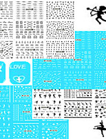 1set 48pcs Nail Art Sticker Black White Beautiful&Lovely Image Dance Girl Water Transfer Decals Nail Art Beauty Design B121-144