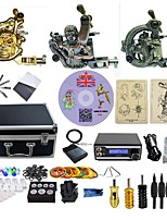 Complete Tattoo Kit 3  Machines Arhat With LED Dual Digital Power Supply  liner & shader