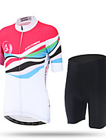XINTOWN Cycling Jersey with Shorts Women's Short Sleeve BikeBreathable Quick Dry Ultraviolet Resistant Moisture Permeability Anti-Insect