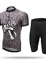XINTOWN Maillot et Cuissard de Cyclisme Homme Manches courtes Vélo Maillot Cuissard  / ShortSéchage rapide Zip frontal Respirable Doux