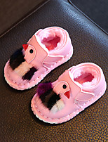 Baby Flats Winter First Walkers Leatherette Outdoor Casual Low Heel Magic Tape White Red Pink Walking