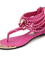 Damen-Sandalen-Outddor Büro Kleid Lässig-PU-Flacher Absatz-Komfort Neuheit