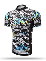 XINTOWN Men's Short Sleeve Bike Breathable Quick Dry Sweat-wicking Comfortable Back Pocket Tops Terylene Spring Summer Fall/Autumn