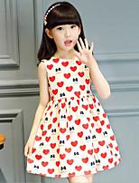 Vestido Chica de Estampado Algodón Sin Mangas Verano
