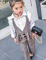 Girls' Casual/Daily Plaid Sets,Cotton Rayon Summer Spring Fall Sleeveless Clothing Set