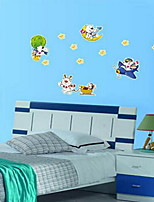 Cartoon Happy Bear Luminous Wall Sticker Vinyl Material Children's Room Decoration