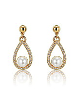 Drop Earrings Crystal Fashion European Imitation Pearl Drop Gold Silver Jewelry For Daily Casual 1 pair
