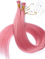 #Pink I Tip Hair Extensions European Human Hair I Tip Extensions 100strand/lot Best Quality I Tip 1g/strand